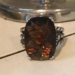 Garnet gemstone ring Sz 8